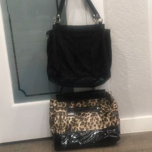 Miche prima / tereasa leopard Black Shoulder Bag